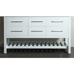 "59"" SB250-5BMC Double Vanity Cabinet Only-White"