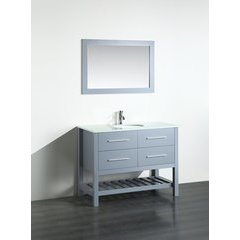 43'' SB250-6GRPS Single Vanity w/ Pheonix Stone Top-Gray