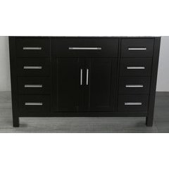 "47"" SB252-3BMC Single Vanity Cabinet Only-Black"