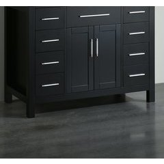 "43"" SB252-7BMC Single Vanity Cabinet Only-Black"