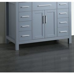 "43"" SB252-7GRMC Single Vanity Cabinet Only-Gray"