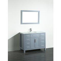 43'' SB252-7GRPS Single Vanity w/ Pheonix Stone Top-Gray