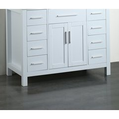 "43"" SB252-7WHMC Single Vanity Cabinet Only-White"