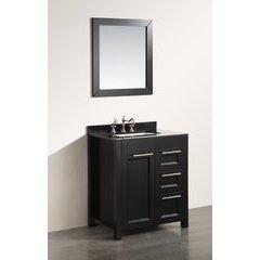 30'' SB267-1BBG Single Vanity w/ Black Granite Top-Black