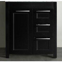 "29"" SB267-1BMC Single Vanity Cabinet Only-Black"