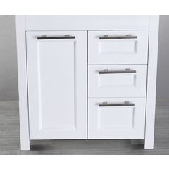 "29"" SB267-1WHMC Single Vanity Cabinet Only-White"