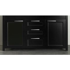 "60"" SB267BMC Double Vanity Cabinet Only-Black"