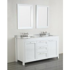 60'' SB267CM Double Vanity w/ White Carrara Top-White