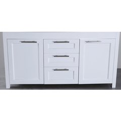 "60"" SB267WHMC Double Vanity Cabinet Only-White"