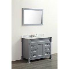 "43"" SB278 Single Vanity w/ White Carrara Top-Gray"