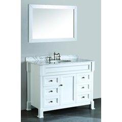"""43"""" SB278 Single Vanity w/ White Carrara Top-White"""
