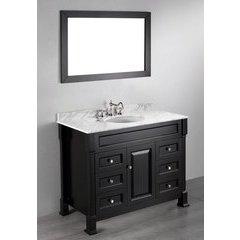 "43"" SB-278 Single Vanity w/ Carrara White Top-Black"