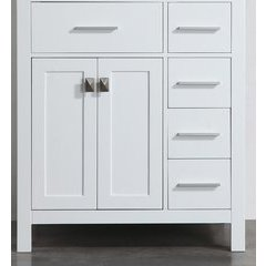 "29"" SBL2104WHMC Single Vanity Cabinet Only-White"