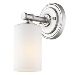 Anderson 1-Light Bath Sconce with Opal Glass Shade - Brushed Nickel