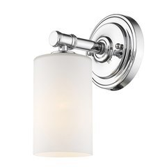 Anderson 1-Light Bath Sconce with Seedy Glass Shade - Chrome