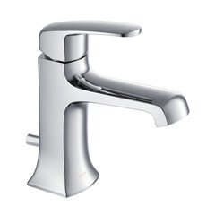 Ella Modern/Contemporary Single Hole Bathroom Faucet - Chrome