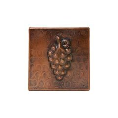 4 x 4 Inch Copper Grape Tile