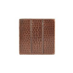 4 x 4 Inch Copper Tile with Linear Design