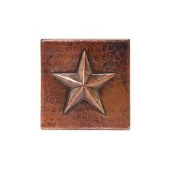 4 x 4 Inch Copper Star Tile