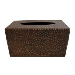Large Hand Undermount Tissue Box Cover - Oil Rubbed Bronze