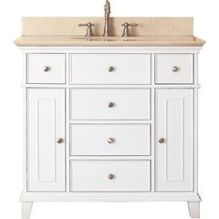 "37"" Windsor Single Vanity - Galala Beige Marble Top"