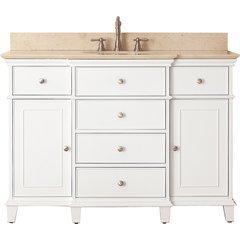 "49"" Windsor Single Vanity - Galala Beige Marble Top"