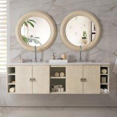 "72"" Sonoma Double Vanity Cabinet Only-Vanilla Oak"