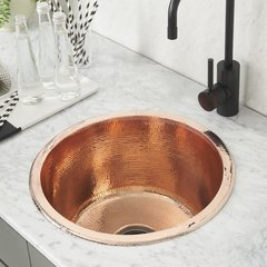 "17-3/4"" Redondo Grande Universal Mount Bar Sink-Pol. Copper"