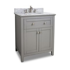 "30"" Chatham Shaker Single Sink Bathroom Vanity - Gray"