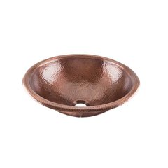 "15-1/4"" Dia Renovations Universal Bathroom Sink - Copper"