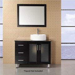 "39"" Malibu Single Vessel Sink Bathroom Vanity - Espresso"