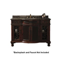 "53"" Venetian Single Sink Bathroom Vanity - Brown Cherry"