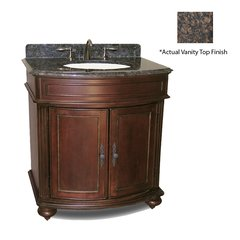 "36"" Arlington Single Vanity w/ Brown Top - Distressed Cherry"