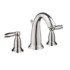 Swing C Two-Handle Widespread Bathroom Faucet - Chrome