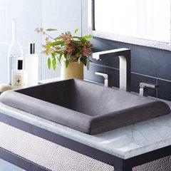 """21-1/2"""" x 15-1/2"""" Montecito Drop-In Bathroom Sink - Black"""