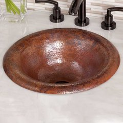"15-3/4"" Round Maestro Ananda Drop-In Sink - Tempered Copper"