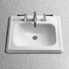 """22-1/2"""" x 18-3/4"""" Drop In Bathroom Sink - Cotton White"""