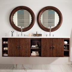 "72"" Sonoma Double Vanity w/ Arctic Fall Top-Coffee Oak"