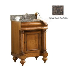 "24"" Guild Hall Single Vanity w/ Brown Top - Distressed Pecan"