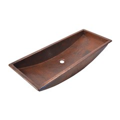 "36"" x 14"" Trough 36 Universal Bathroom Sink - Antique"