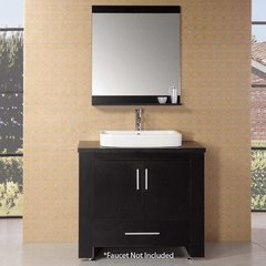 "36"" Washington Single Vessel Sink Bathroom Vanity - Espresso"