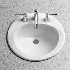 "19"" x 19"" Drop In/Self Rimming Bathroom Sink - Cotton Whit"