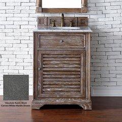 """26"""" Savannah Single Vanity w/ ABS Black Rustic Top-Driftwood"""