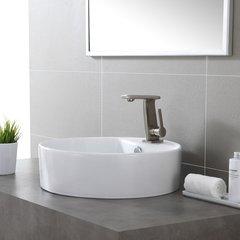 Novus One Handle Single Hole Bathroom Faucet - BrushedNickel