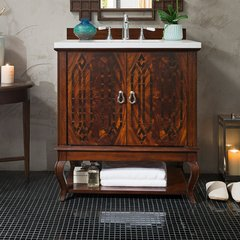 "31"" Palm Beach Single Vanity w/ Arctic Fall Top-Dk Amber"