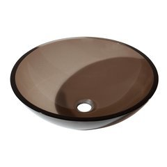 "16-1/2"" Diameter Round Vessel Bathroom Sink - Brown"