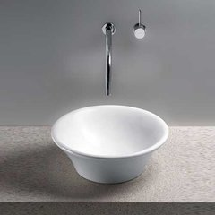 "17"" x 17"" Alexis Above Counter Bathroom Sink - Cotton White"