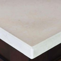"26"" Single Bowl Vanity Top Only - Galala Beige Marble Stone"