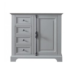 """36"""" Providence Single Cabinet only w/o Top - Urban Gray"""