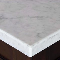 "26"" Single Bowl Vanity Top Only - Carrara White Stone"
